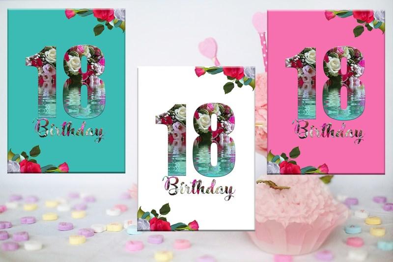 18th birthday card birthday girl flora