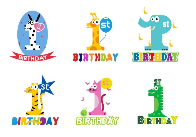 1st birthday card free vector art 34 free downloads