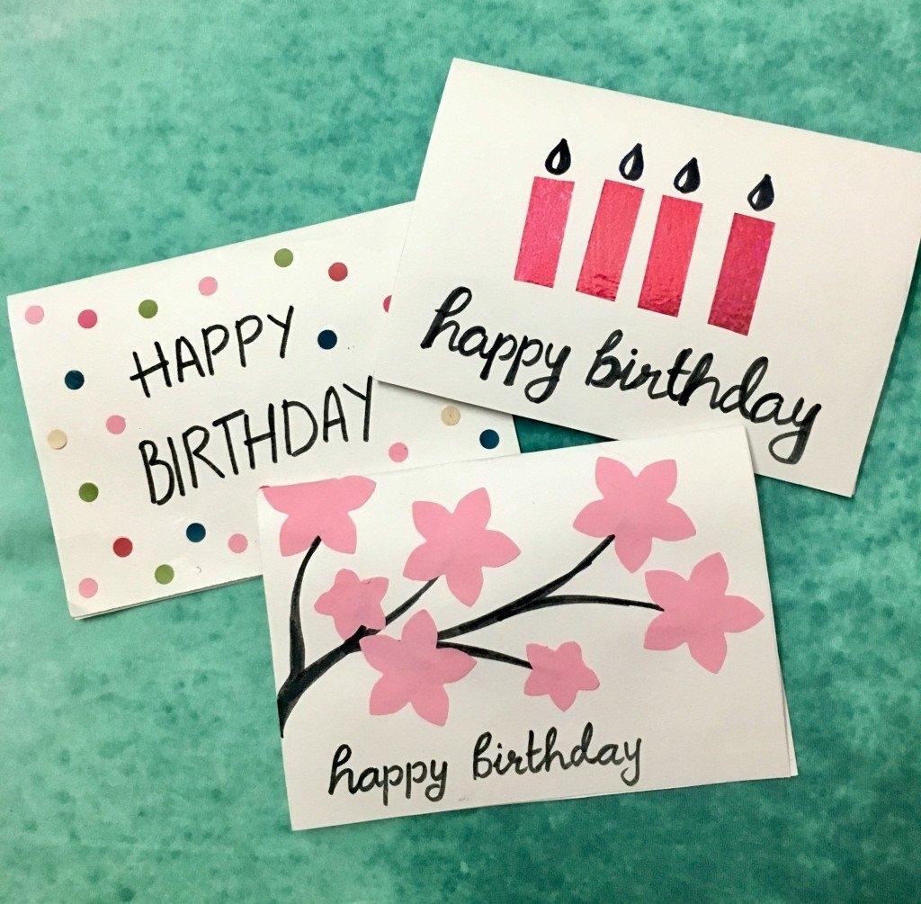 3 easy 5 minute diy birthday greeting cards holidappy