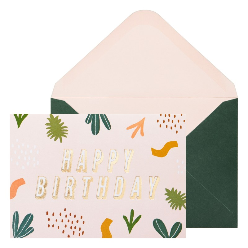 a6 greeting card happy birthday pale pink greeting cards