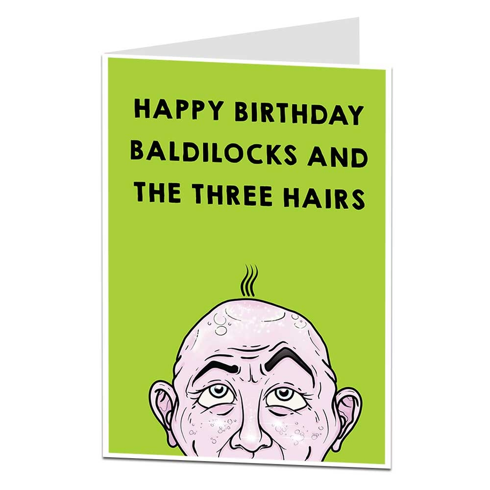 baldilocks the three hairs birthday card