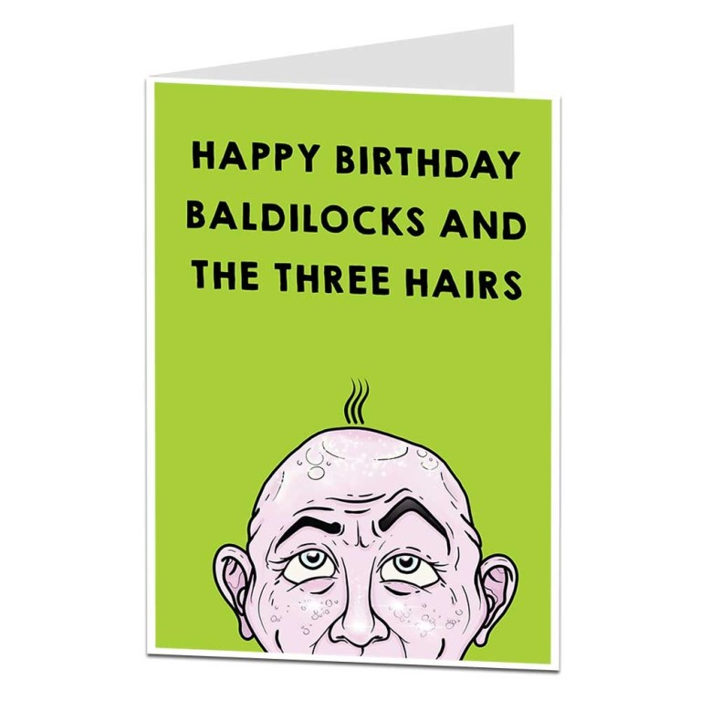 baldilocks the three hairs birthday card