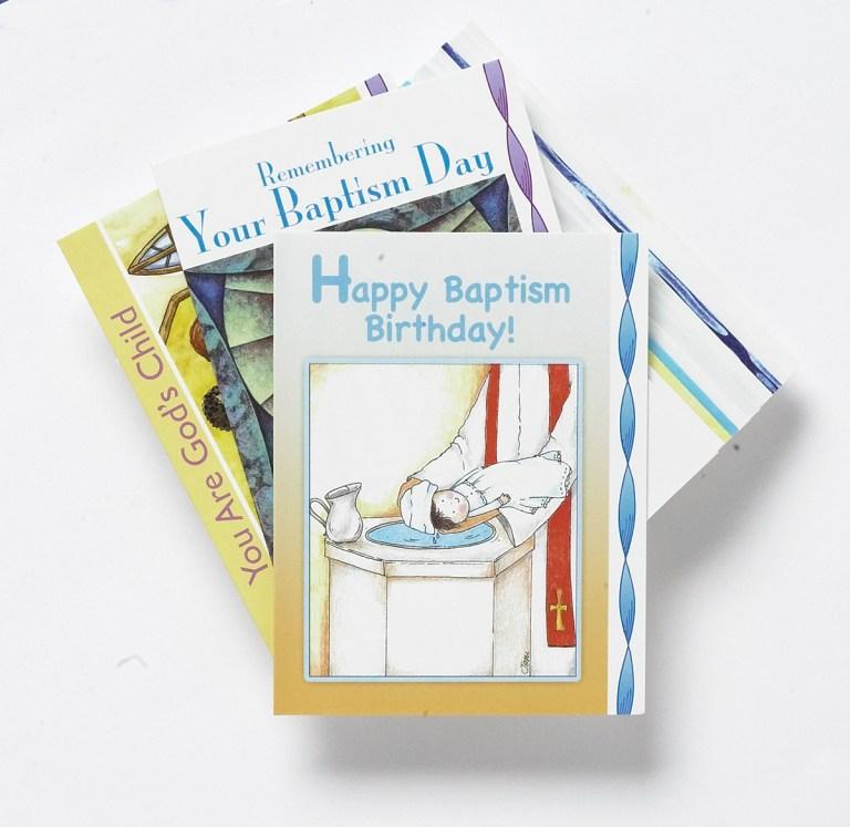 baptism birthday cards