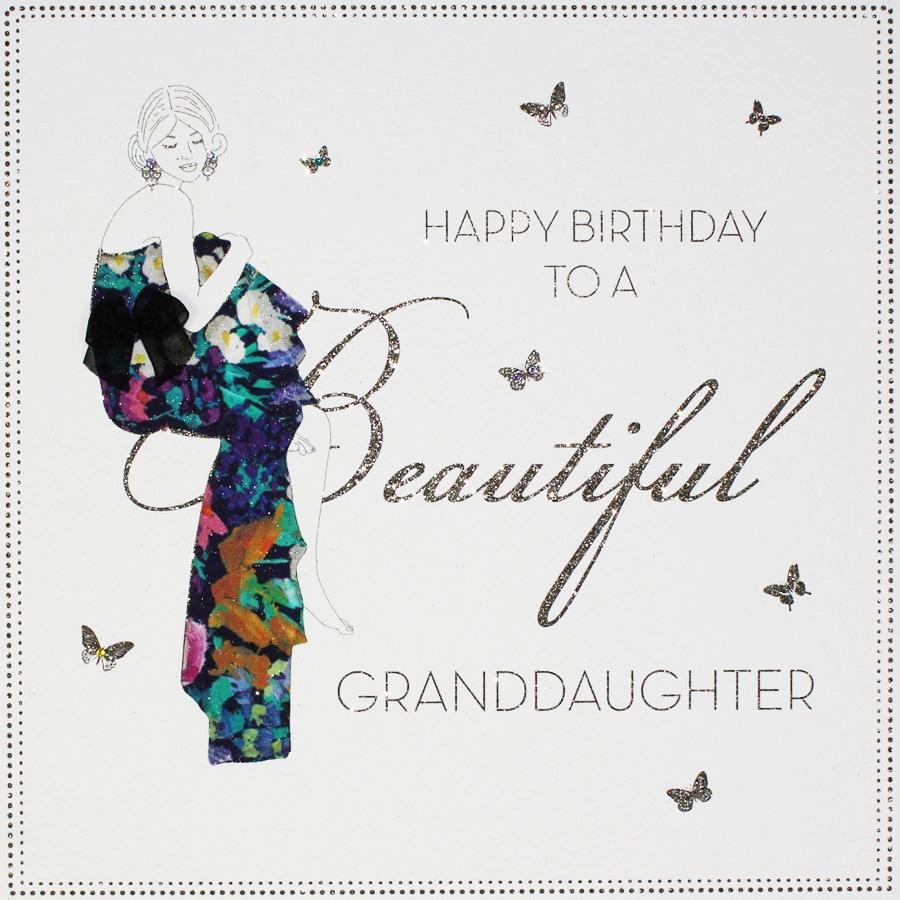 beautiful granddaughter large handmade birthday card bly19