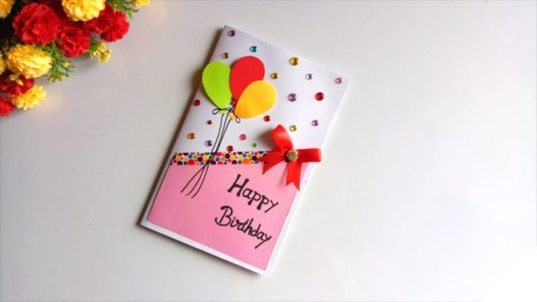 beautiful handmade birthday card idea diy greeting cards for birthday
