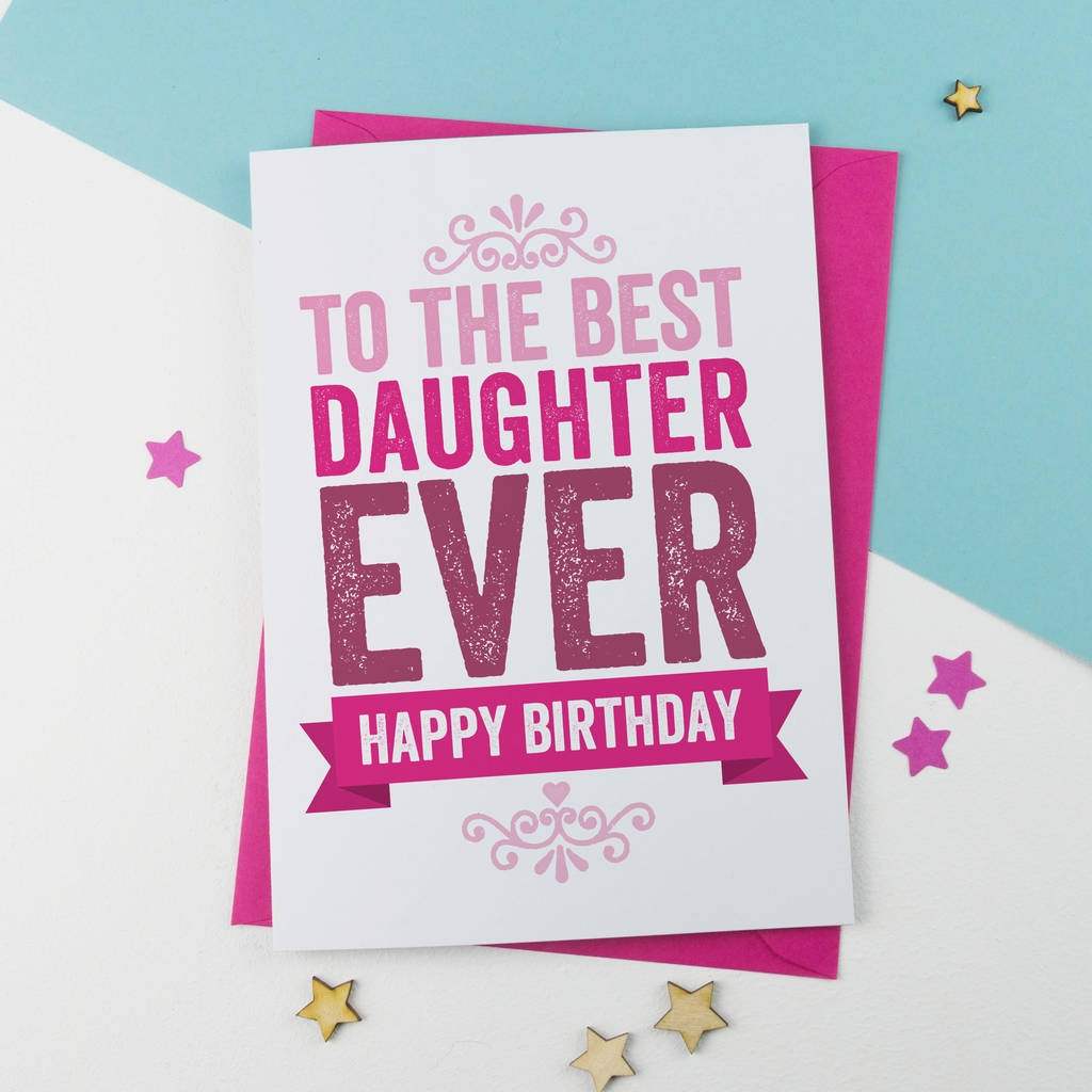 best daughter birthday card
