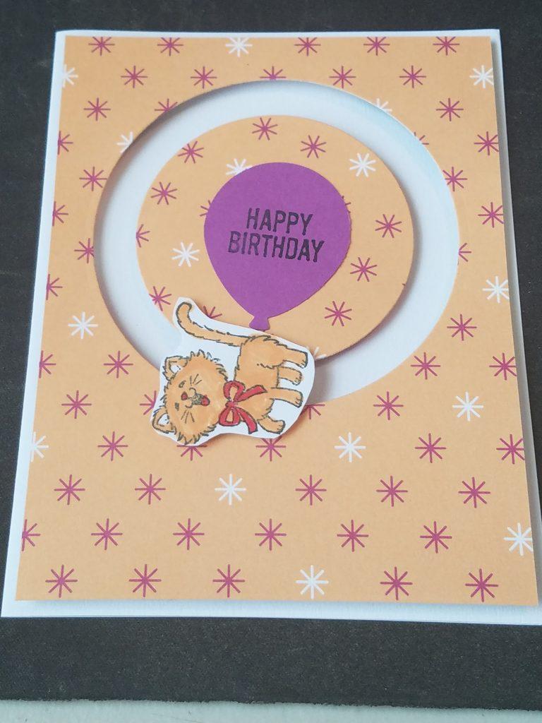 birthday card homemade birthday card girl birthday card greeting cards birthday lady female birthday spinning cat birthday