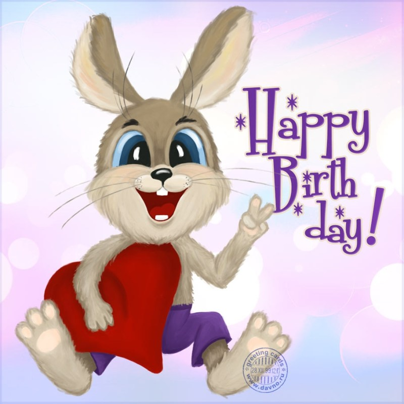 bunny birthday card download on funimada
