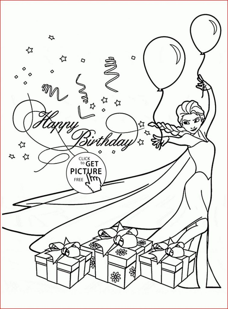 coloring book coloring happy birthday card with elsang