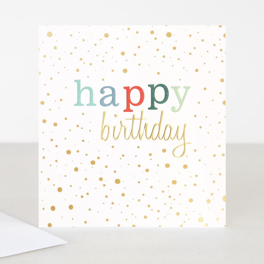 colourful happy birthday card caroline gardner
