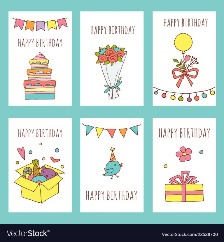 creative happy birthday cards collection hand