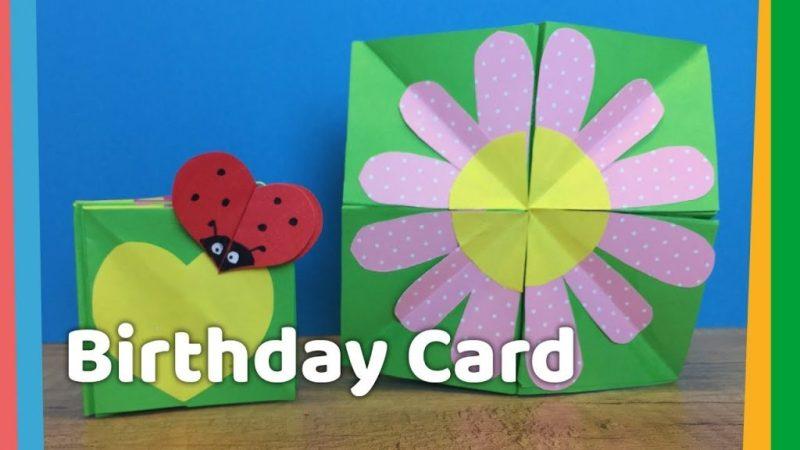 diy kids birthday card monte