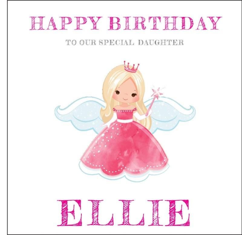 fairy2 personalised birthday card daughter niece granddaughter