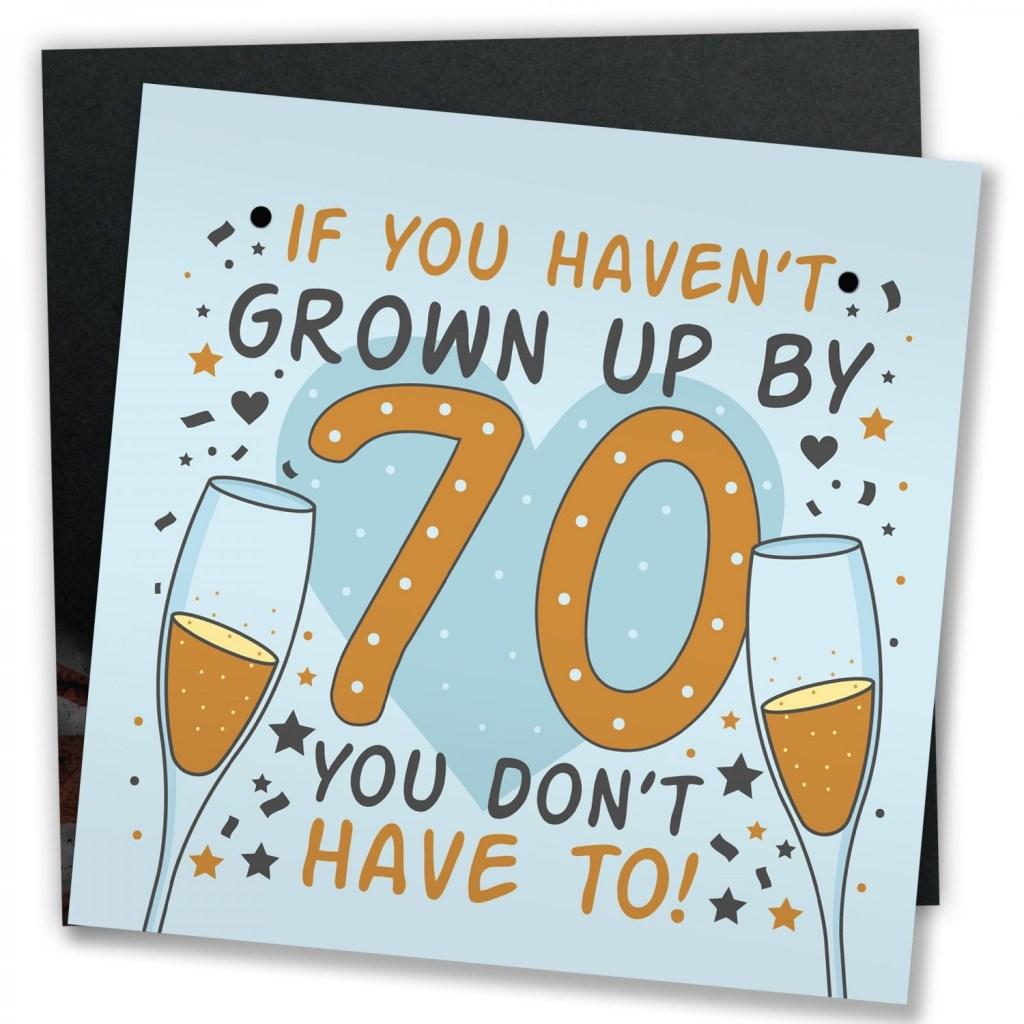 funny 70th birthday card 70th birthday presents for women men