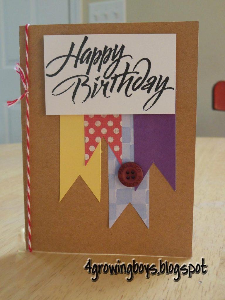 growing boys homemade birthday cards decoratorist 152240