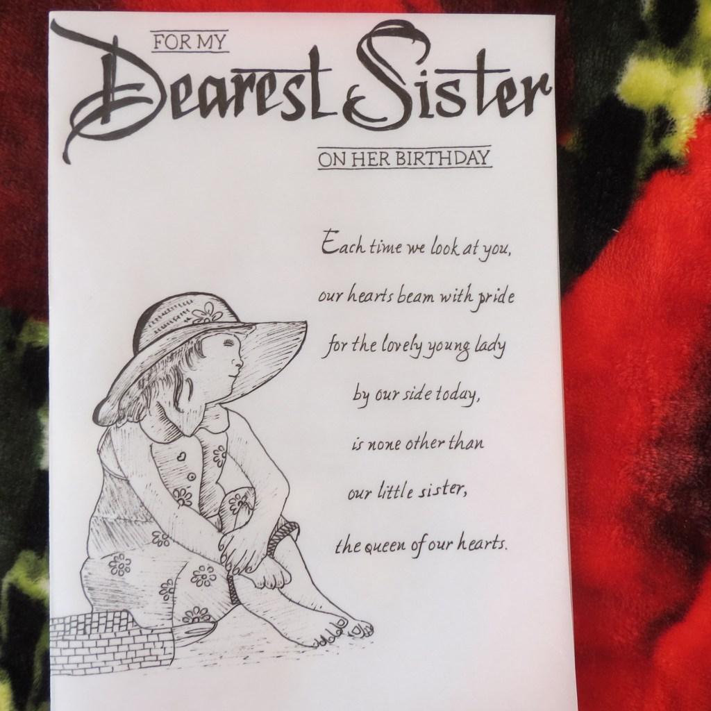handicraft cards handwritten and handmade sisters birthday