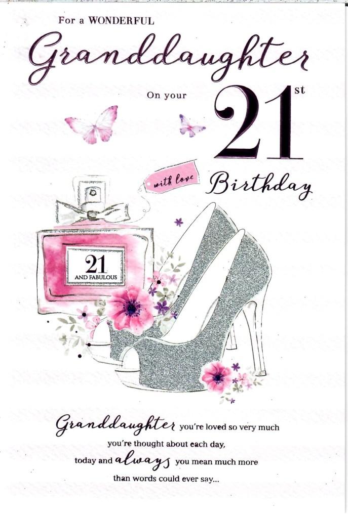 happy 21st birthday granddaughter card