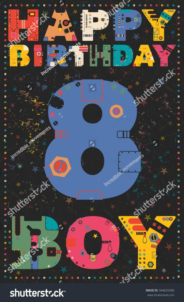 happy birthday card happy birthday boy stock vektorgrafik