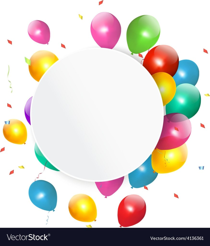 happy birthday gift card with baloons