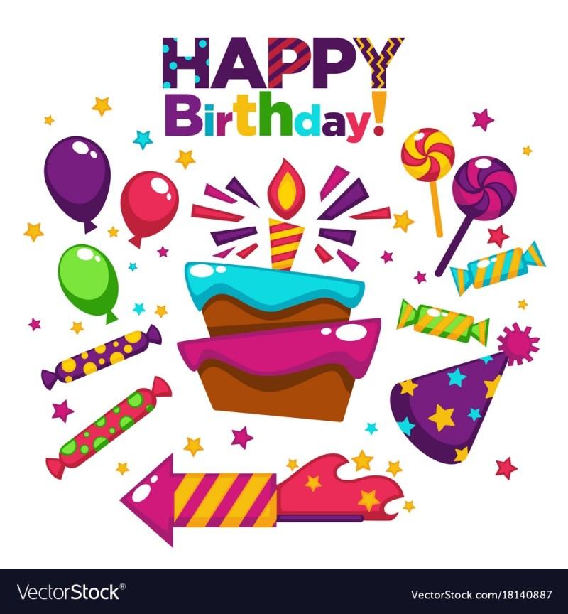 happy birthday greeting card or postcard gift