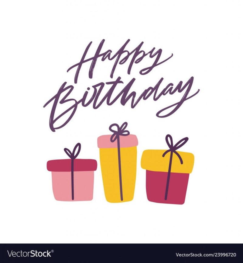happy birthday greeting card template with festive