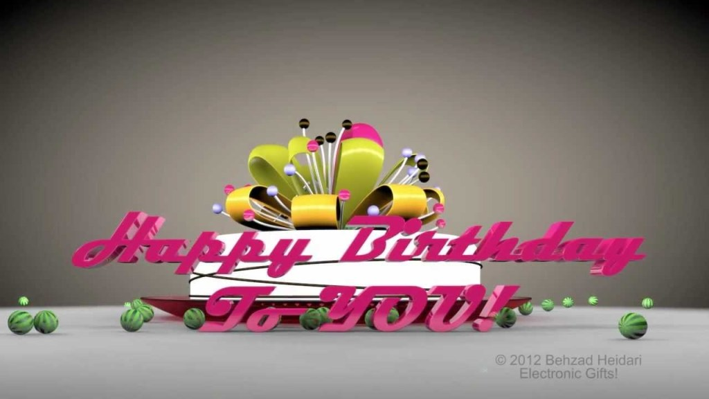 happy birthday to you hd 3d animated video greeting e card