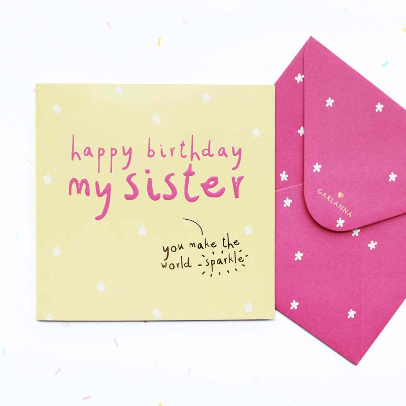 little moments sister birthday card