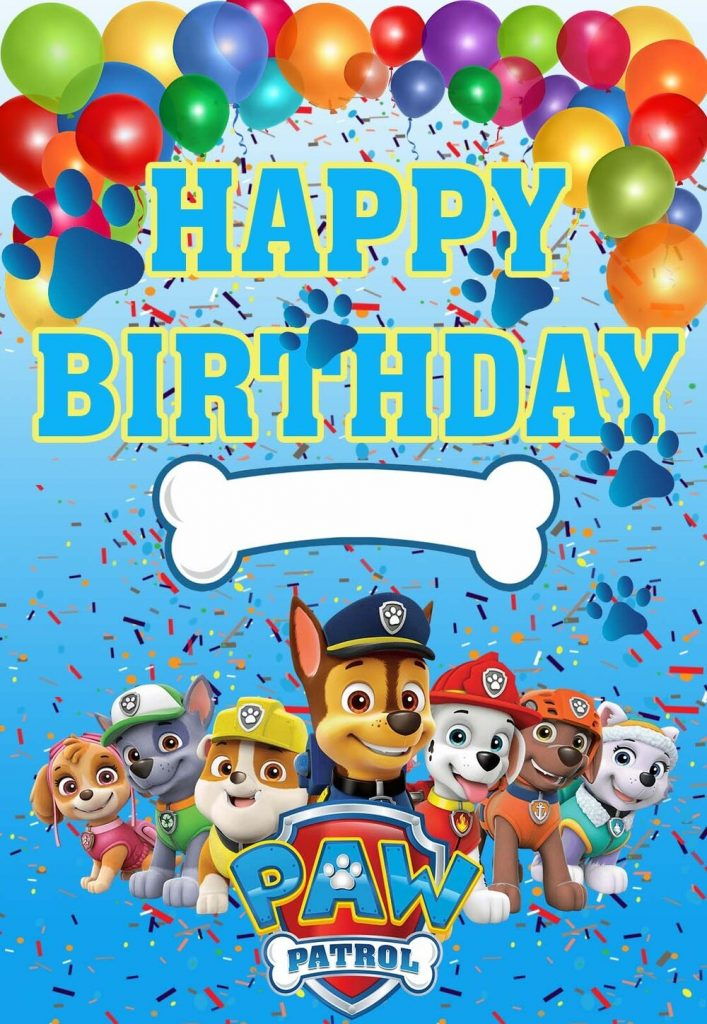 paw patrol printable birthday cards printbirthdaycards