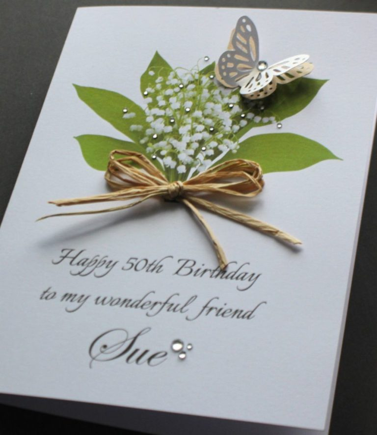 personalised handmade birthday card mumnansisterfriend