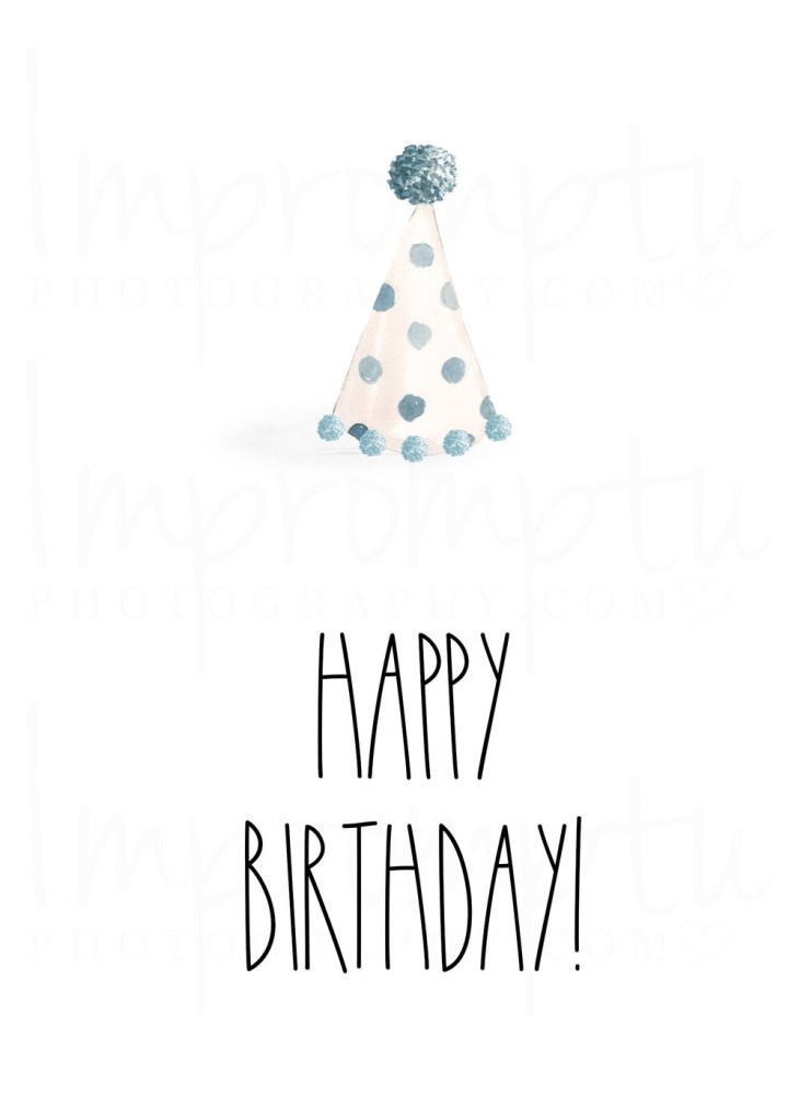 rae dunn inspired printable birthday card 5x7 happy birthday hat boy impromptu photography