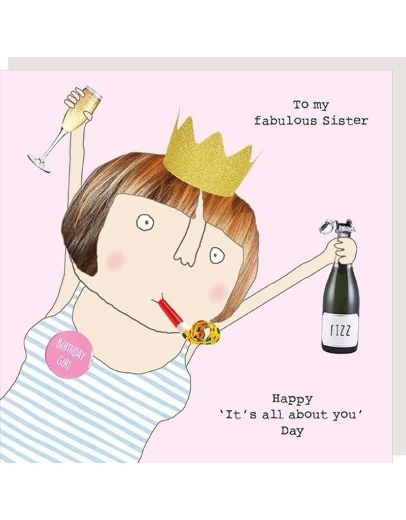 rosie made a thing fabulous sister birthday card