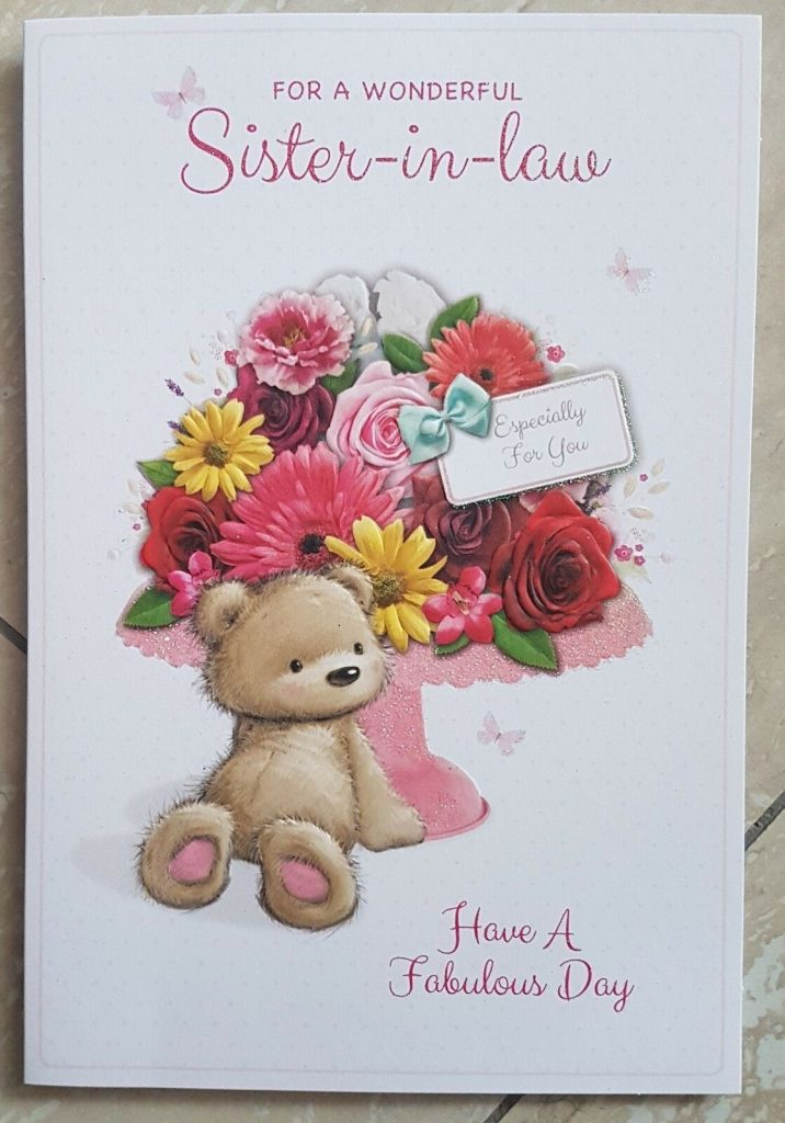 sister in law birthday card choice of design feste