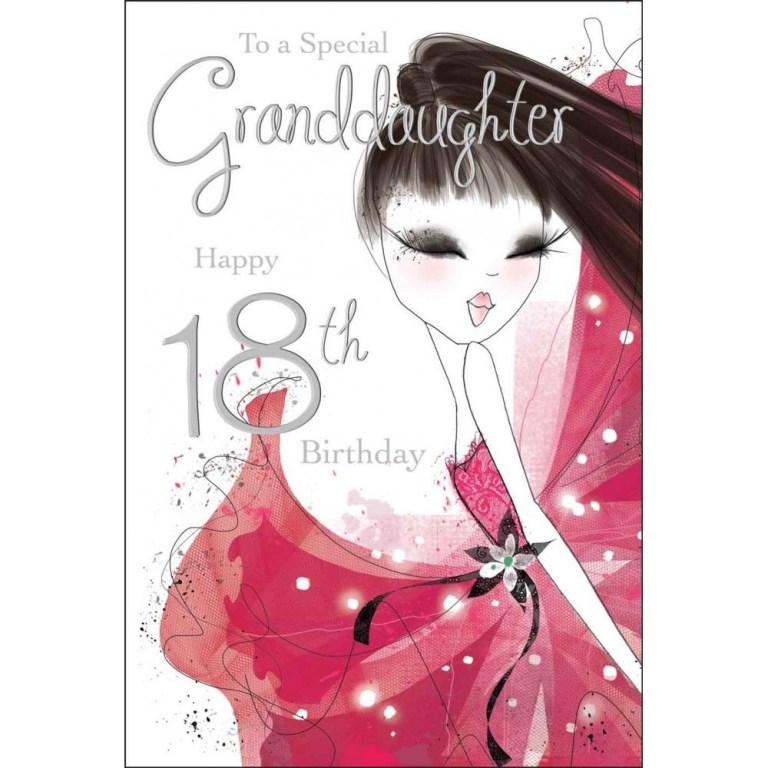 special granddaughter 18th birthday card