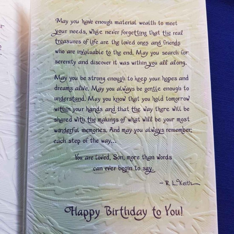 birthday wishes for a wonderful son greeting card inspire me