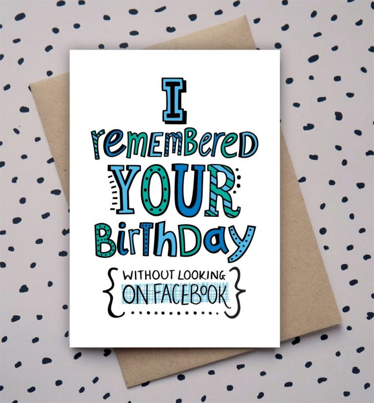 hand drawn type doodle birthday card funny birthday