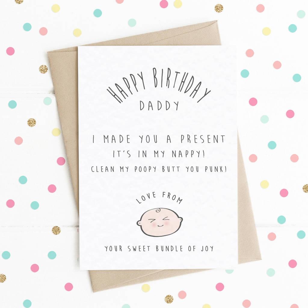 happy birthday daddy i made you a present a6 card