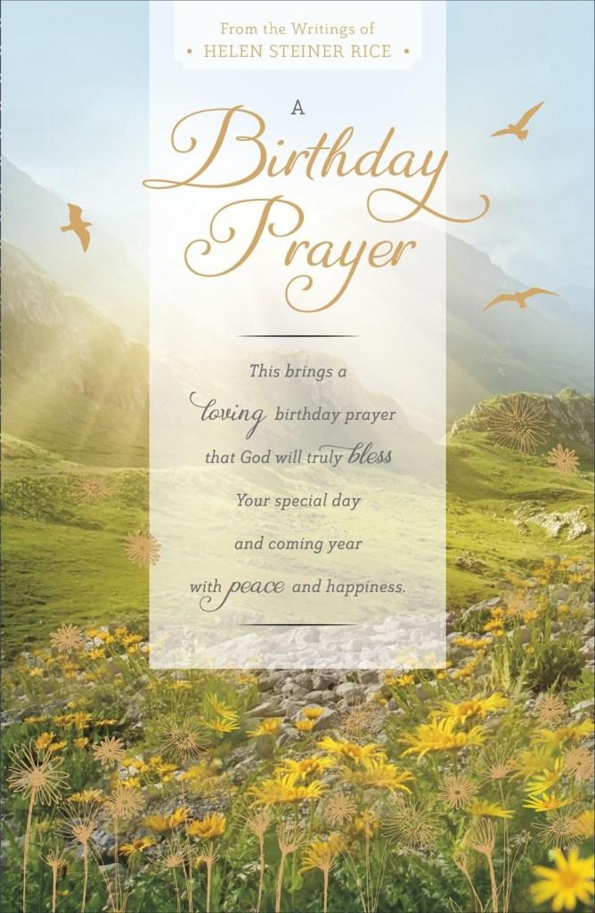 helen steiner rice a birthday prayer religious birthday card