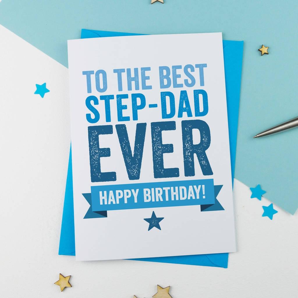 step father or step dad birthday card