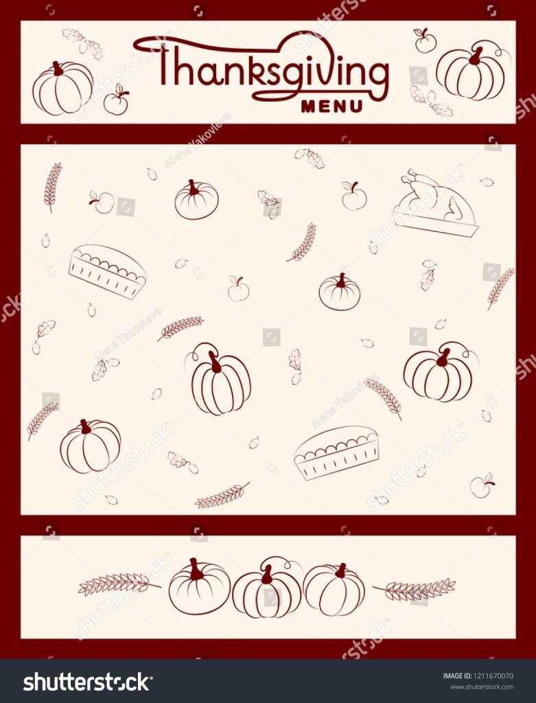 editable thanksgiving menu template for restaurant