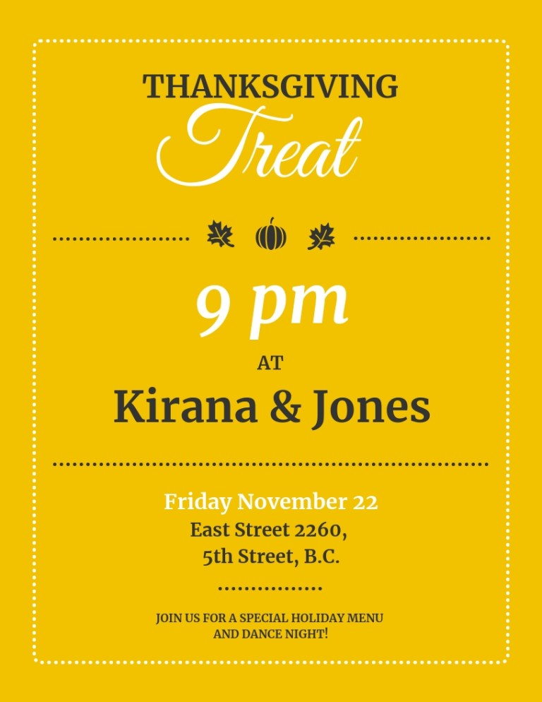 modern typographic thanksgiving poster template