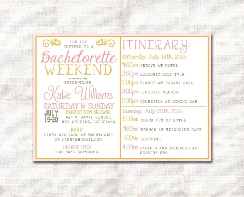 bachelorette party agenda template