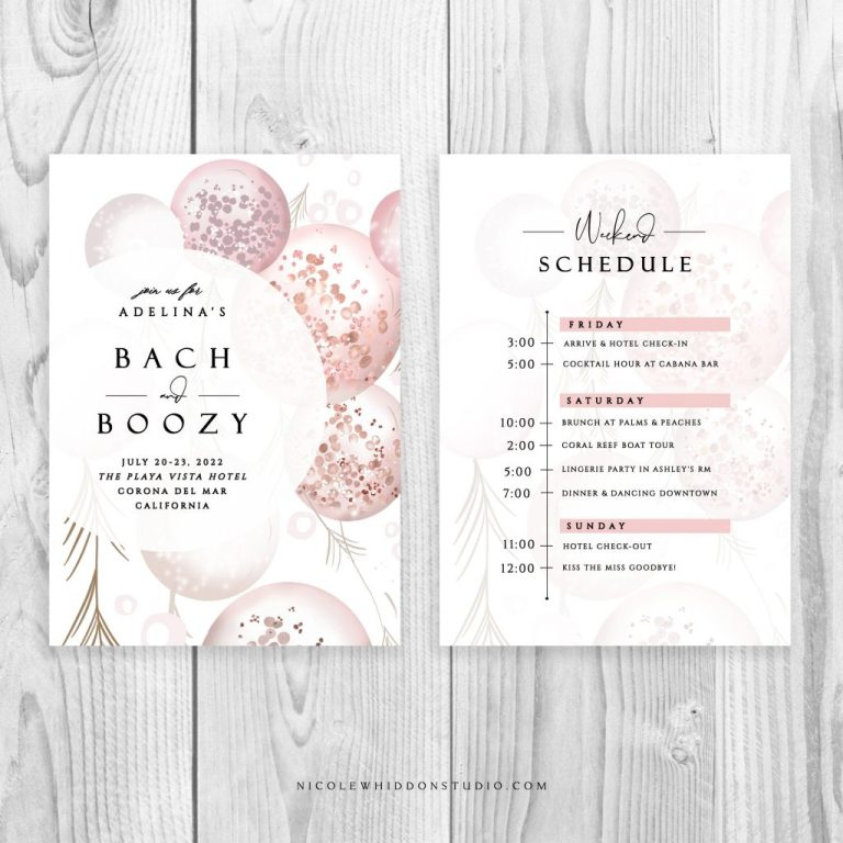bachelorette party itinerary online