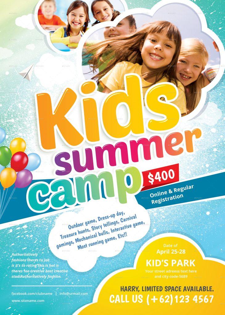 flyer summer camps for kids