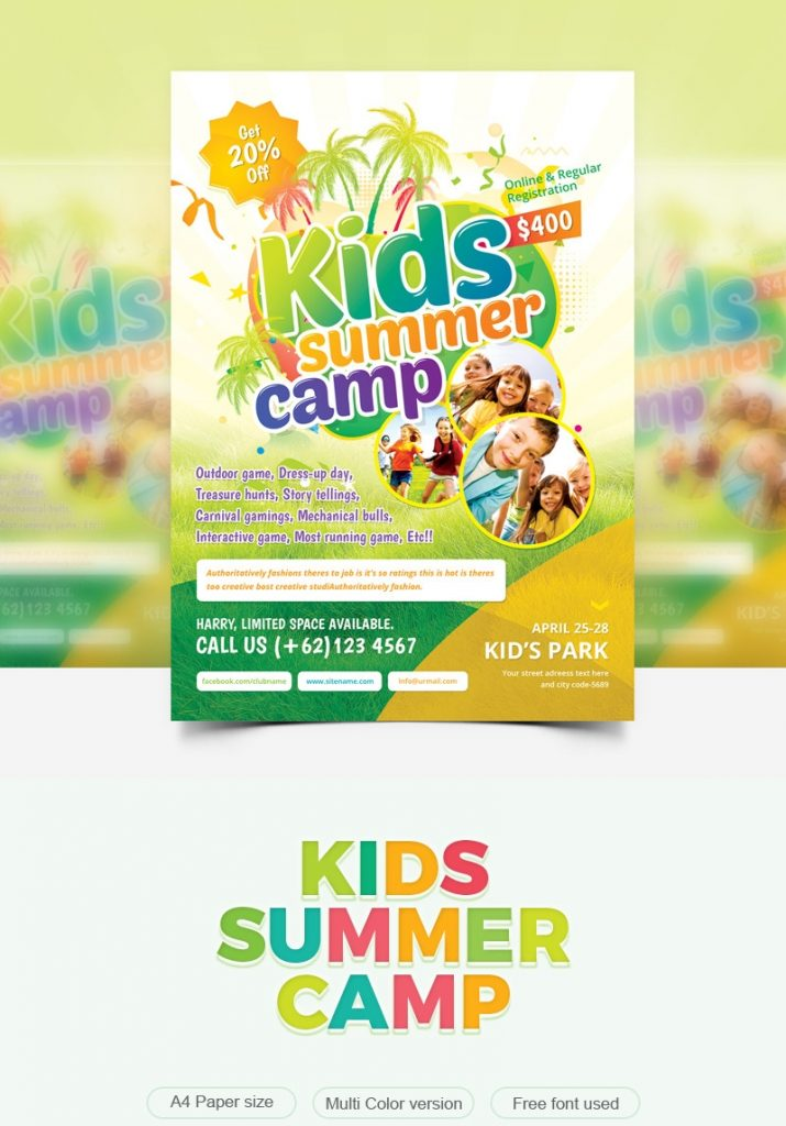 holiday camp flyer corporate template