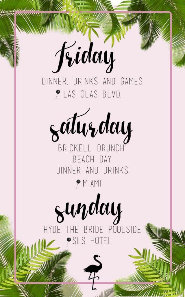 miami bachelorette party itinerary
