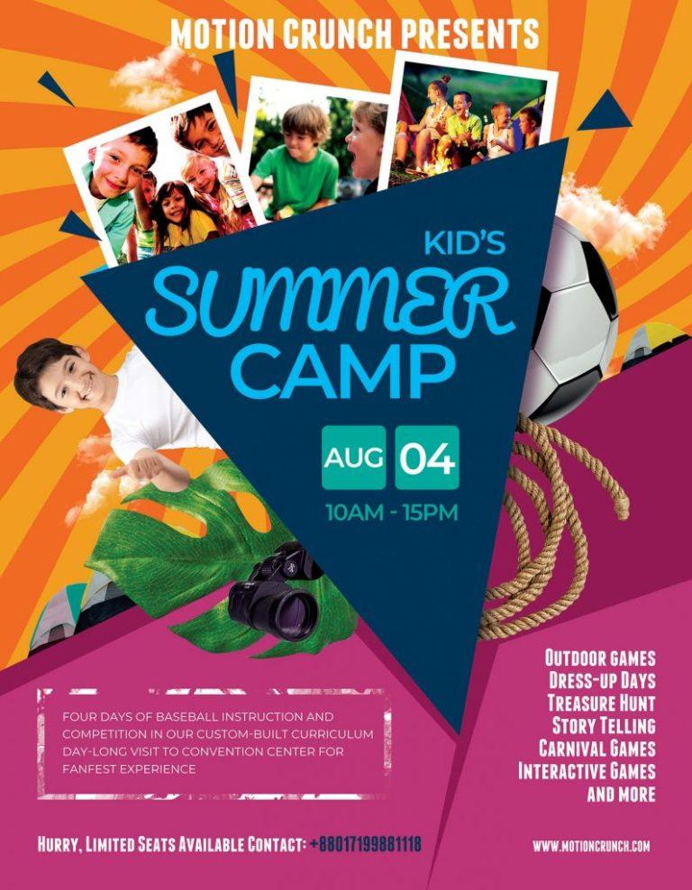 summer camp flyer advertisements