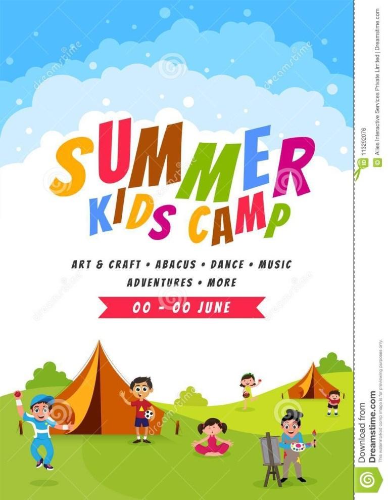 summer camp poster design