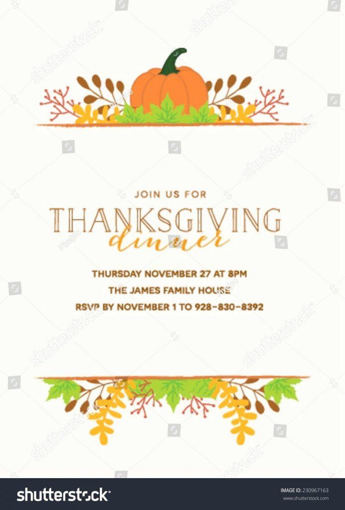 thanksgiving invitation sample