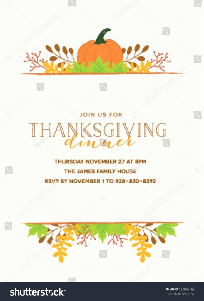 thanksgiving invitation sample