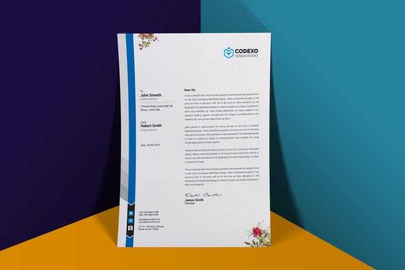 a4 flyer printable letterhead psd